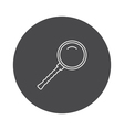 Outline loupe icon vector image vector image