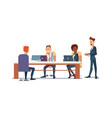 people work in office vector image vector image