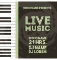 Piano icon Retro and Music design graphic vector image vector image