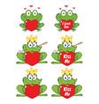 Princess frog cartoon character 3 collection set