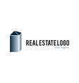 Real estate logo metallic vector image vector image