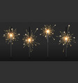 realistic sparkler party and birthday firework vector image vector image
