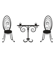 retro table and two chairs vector image