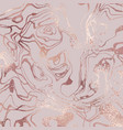 rose marble rose gold elegant texture with foil vector image vector image