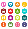 safety icons many colors set vector image vector image