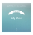 Save the date baby shower card vector image vector image