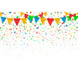 seamless pattern festive flags and confetti vector image vector image