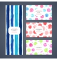 Set of watercolor seamless banners vector image vector image