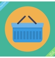 Shopping basket icon - vector image vector image