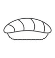 sushi thin line icon asian and food seafood sign vector image