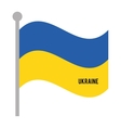 ukranie patriotic flag isolated icon vector image vector image