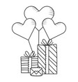 valentines gift box cartoon vector image