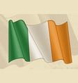 vintage ireland flag vector image