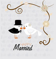 wedding design over gray background vector image vector image