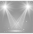 White glowing transparent disco lights background vector image
