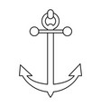 sailing anchor icon image vector image