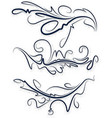 a collection of beautiful decorative items for vector image vector image