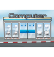 A computer shop vector | Price: 1 Credit (USD $1)