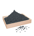 A Lot of Black Beans in Wooden Container vector image vector image
