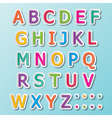 abc font vector image vector image
