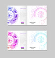 abstract brochure template with technology round vector image vector image