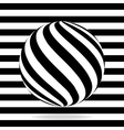 Abstract globe from black and white stripes vector image vector image