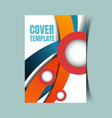 abstract report cover 22 vector image vector image