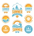 Blue and Orange Summer Holidays Labels vector image vector image