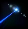 blue laser beam vector image vector image