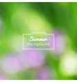 blurred nature summer green background vector image vector image