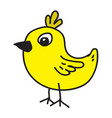 chicken cartoon icon vector image