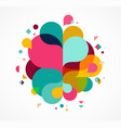 Colorful abstract background poster with splash vector image