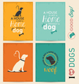 Dog Typographic Background Set vector image vector image