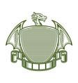 dragon and movie emblem logo creative concept vector image vector image