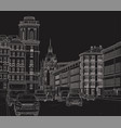 drawing a city street vector image