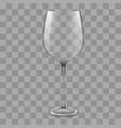 empty wine glass vector image vector image