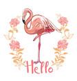 flamingo isolated on background pink flamingo vector image vector image