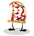 Funny Pizza vector image vector image