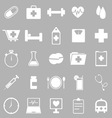 Health icons on gray background vector image