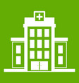hospital icon green vector image vector image