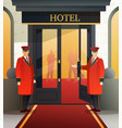 hotel doormen flat composition vector image