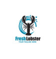 image with lobster vector image vector image