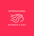 international womens day banner vector image vector image