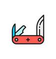 jackknife pocket knife multitools flat vector image
