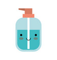kawaii liquid soap bottle dispenser in colorful vector image