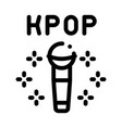 kpop microphone icon outline vector image vector image
