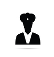 man chief icon black vector image vector image