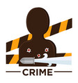 movie genre crime cinema icon of vicitm vector image