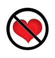 No love sign vector image vector image