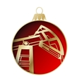 Oil industry christmas design vector image vector image